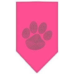 Mirage Pet Products Paw Green Rhinestone Bandana Bright Pink Large