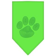 Mirage Pet Products Paw Green Rhinestone Bandana Lime Green Large