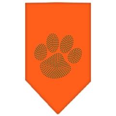 Mirage Pet Products Paw Green Rhinestone Bandana Orange Large