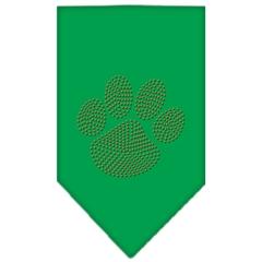 Mirage Pet Products Paw Orange Rhinestone Bandana Emerald Green Small