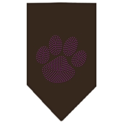 Mirage Pet Products Paw Purple Rhinestone Bandana Cocoa Small
