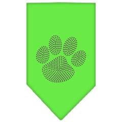 Mirage Pet Products Paw Purple Rhinestone Bandana Lime Green Small