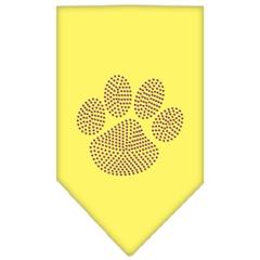 Mirage Pet Products Paw Purple Rhinestone Bandana Yellow Small