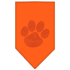 Mirage Pet Products Paw Red Rhinestone Bandana Orange Small