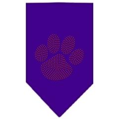 Mirage Pet Products Paw Red Rhinestone Bandana Purple Large