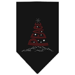 Mirage Pet Products Peace Tree Rhinestone Bandana Black Large