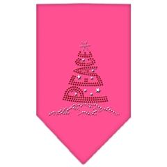 Mirage Pet Products Peace Tree Rhinestone Bandana Bright Pink Small