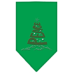 Mirage Pet Products Peace Tree Rhinestone Bandana Emerald Green Small