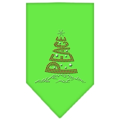 Mirage Pet Products Peace Tree Rhinestone Bandana Lime Green Large