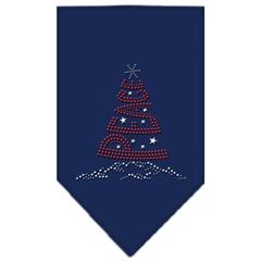 Mirage Pet Products Peace Tree Rhinestone Bandana Navy Blue large