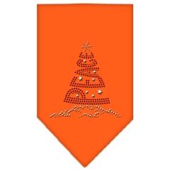 Mirage Pet Products Peace Tree Rhinestone Bandana Orange Small