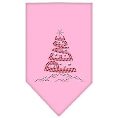 Mirage Pet Products Peace Tree Rhinestone Bandana Light Pink Small