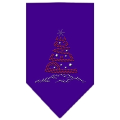 Mirage Pet Products Peace Tree Rhinestone Bandana Purple Large