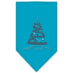 Mirage Pet Products Peace Tree Rhinestone Bandana Turquoise Large