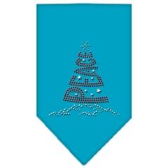 Mirage Pet Products Peace Tree Rhinestone Bandana Turquoise Small