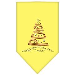 Mirage Pet Products Peace Tree Rhinestone Bandana Yellow Large