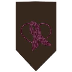 Mirage Pet Products Pink Ribbon Rhinestone Bandana Cocoa Small