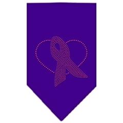 Mirage Pet Products Pink Ribbon Rhinestone Bandana Purple Small