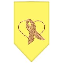Mirage Pet Products Pink Ribbon Rhinestone Bandana Yellow Small