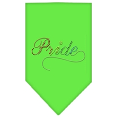 Mirage Pet Products Pride Rhinestone Bandana Lime Green Large