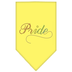 Mirage Pet Products Pride Rhinestone Bandana Yellow Large