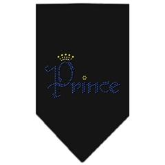 Mirage Pet Products Prince Rhinestone Bandana Black Small