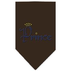 Mirage Pet Products Prince Rhinestone Bandana Cocoa Large