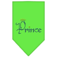 Mirage Pet Products Prince Rhinestone Bandana Lime Green Small