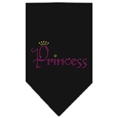 Mirage Pet Products Princess Rhinestone Bandana Black Small