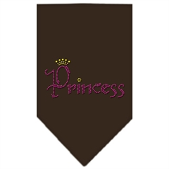 Mirage Pet Products Princess Rhinestone Bandana Cocoa Large