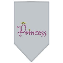 Mirage Pet Products Princess Rhinestone Bandana Grey Large