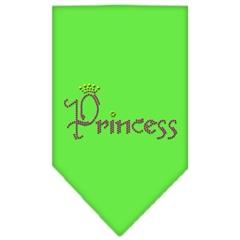Mirage Pet Products Princess Rhinestone Bandana Lime Green Large