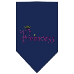 Mirage Pet Products Princess Rhinestone Bandana Navy Blue large