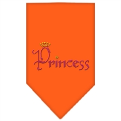 Mirage Pet Products Princess Rhinestone Bandana Orange Small