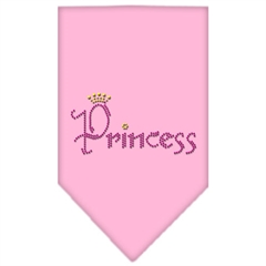 Mirage Pet Products Princess Rhinestone Bandana Light Pink Small