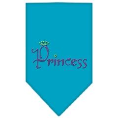 Mirage Pet Products Princess Rhinestone Bandana Turquoise Large
