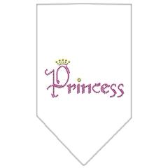 Mirage Pet Products Princess Rhinestone Bandana White Large