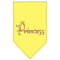 Mirage Pet Products Princess Rhinestone Bandana Yellow Small