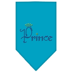 Mirage Pet Products Prince Rhinestone Bandana Turquoise Small