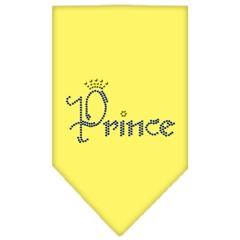 Mirage Pet Products Prince Rhinestone Bandana Yellow Large