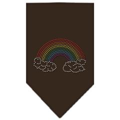 Mirage Pet Products Rainbow Rhinestone Bandana Cocoa Large