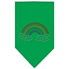 Mirage Pet Products Rainbow Rhinestone Bandana Emerald Green Large