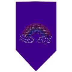 Mirage Pet Products Rainbow Rhinestone Bandana Purple Small