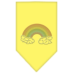 Mirage Pet Products Rainbow Rhinestone Bandana Yellow Small