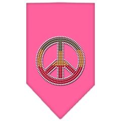 Mirage Pet Products Rasta Peace Rhinestone Bandana Bright Pink Small