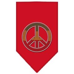 Mirage Pet Products Rasta Peace Rhinestone Bandana Red Large