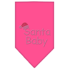 Mirage Pet Products Santa Baby Rhinestone Bandana Bright Pink Large