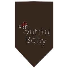 Mirage Pet Products Santa Baby Rhinestone Bandana Cocoa Large