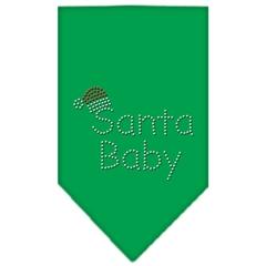 Mirage Pet Products Santa Baby Rhinestone Bandana Emerald Green Large