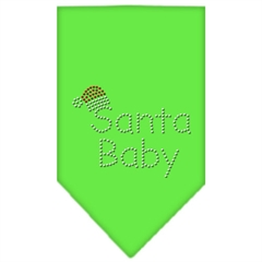 Mirage Pet Products Santa Baby Rhinestone Bandana Lime Green Small